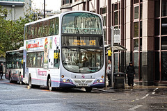 Taking his time (tootdood) Tags: street bus manchester time transport taking lever canon600d