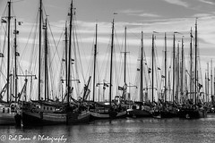 20130928_8146_Enkhuizen (Rob_Boon) Tags: netherlands boat blackwhite ship zwartwit harbour nederland sail enkhuizen tjalk sailingship noordholland northholland robboon