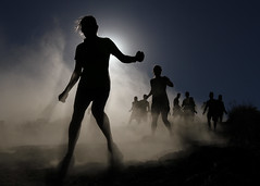 Halo (Conor F. Shine) Tags: public silhouette cool running backlit uncool dust obstaclecourse mudrun cool2 cool5 cool3 cool6 cool4 temeculaca vaillake cool7 uncool2 iceboxcool toughmudder