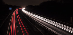 _MG_1447 (Calvin Hughes Photography) Tags: lighting street camera bridge blue light red orange white cars lights moving pub long exposure motorway trails fast vans approved lorrys roadf
