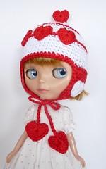 Blythe Hat Warm Valentine (TeenyWeenyDesign/Adrianne) Tags: shoes handmade crochet blythe yosd vantine mayjane littlefee