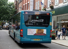 Arriva Midlands North 3009 BJ12YPU Mercedes Benz Citaro O503 (chrisbell50000) Tags: show park flower bus mercedes benz back shropshire ride rear north shrewsbury deck single end midlands decker arriva citaro 3009 harlescott o503 bj12ypu chrisbellphotocom