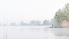 fishermen (BrinksFotografie) Tags: morning mist fish nature water landscape fisherman nevel niko