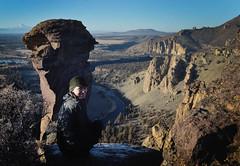 Monkey Face (gabriel amadeus) Tags: winter bike rock oregon grey bicycling high scenery butte desert central smith adventure climbing trail mtb blm cascadia