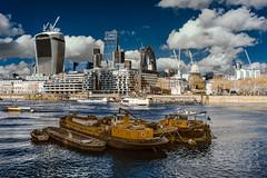 Pool of London IR (cybertect) Tags: london skyline skyscraper river pooloflondon infrared riverthames towerhill se1 cityoflondon londonse1 20fenchurchstreet eileena tidythamesi sonynex5 threequays