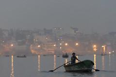 ganga dusk (Seakayem) Tags: india minolta sony beercan varanasi f4 slt ganga maxxum 70210 ganges ghats ghat gangesriver uttarpradesh a55