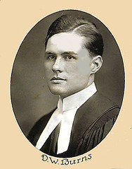 Photograph of D.W. Burns (Law Society of Upper Canada Archives) Tags: portrait graduate 1922 lawyer classof1922 osgoodehalllawschool legalrobes