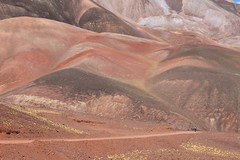 Colourful hills near Refugio El Peñon