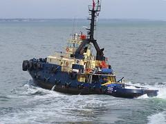 IMG_0679 Decks awash. (Boat bloke) Tags: canon coast boat ship waterfront australia melbourne tugboat tug svitzer sx50hs