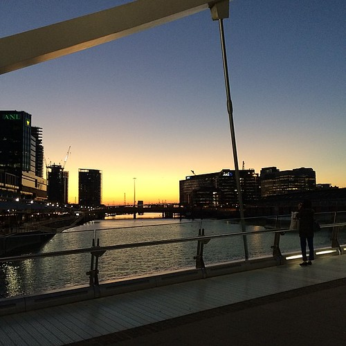 Sunset over South Wharf after dinner