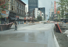 Granville St.  reconstruction early  1970's, Al Ingram,   City of Vancouver (vancouverbyte) Tags: vancouver oldvancouver vancouverarchives vintagevancouver