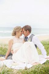 {tom & gemma} 24 (MallorySparkles) Tags: ocean groom bride rustic precious sunshinecoast lacedress flowercrown beachshot