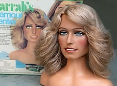 Farrah's Glamour Center by Mego, 1977 (farrahcollector) Tags: show hair tv glamour makeup style center bust angels 70s rollers 1970s 1977 playset farrah fawcett charlies curlers farrahs