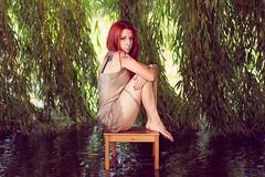 (PetterZenrod) Tags: water rio tattoo river chair agua 85mm redhead silla árbol pelirroja