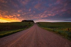 """Backroad to Heaven"" (HomeGroenPhotography) Tags: gravelroad sunset epic light stormy clouds"