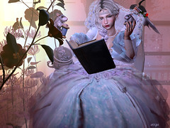 in all of us there is a hidden child who still believes in fairy tales (axxya) Tags: axxya fairy tales fantasy cindarella secondlife tram omen movement silvian moon seraphim people enchantment