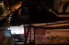 Rainy Night in Hue (sevres-babylone) Tags: ©jmartinsevresbabylone hue vietnam ricohgrii rain night backpackerarea sign 17011521450372800 motorbike