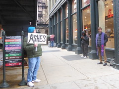 Ashes under the 'L' tracks--Explored (yooperann) Tags: chicago ash wednesday urban photo sign priest cta transit authority methodist minister