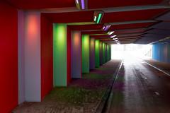 _DSC2634 (durr-architect) Tags: tunnel vision herman kuijer light installation dutch underpass zutphen netherlands architecture art designer artist colourful luminescent motorists cyclists pedestrians time space kcap baljon baauw royal haskoning dhv bam prorail train railway