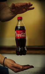 Coke Float (Nick Biswell) Tags: bccpoty2017round2floating sony a580 minolta50mmf17 float floating levitate levitation studio indoor home coke bottle cocacola brand classic red trick magic manualflash fun niftyfifty hands self tether tethered drink soft sonya580 sonydslra580 suspend suspension pop