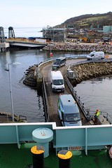 Loading the ferry at Brodick. (Dave Russell (700k views)) Tags: mv motor merchant vessel ship boat ferry vehicle transport caledonian isles island arran clyde scotland brodick terminal harbour port outdoor calmac macbrayne ardrossan loading ramp stern pier harbor