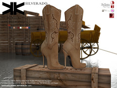 Silverado :: Woman Boots :: 10 Colors ({kokoia}) Tags: kokoia boots boot cowboy cowgirl west heel maitreya slink tmp belleza eve high shoes silverado