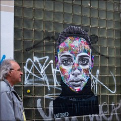 Ant Carver - DSCF0471a (normko) Tags: london west end street art pasteup aerosol graffiti ant carver portrait wall mural