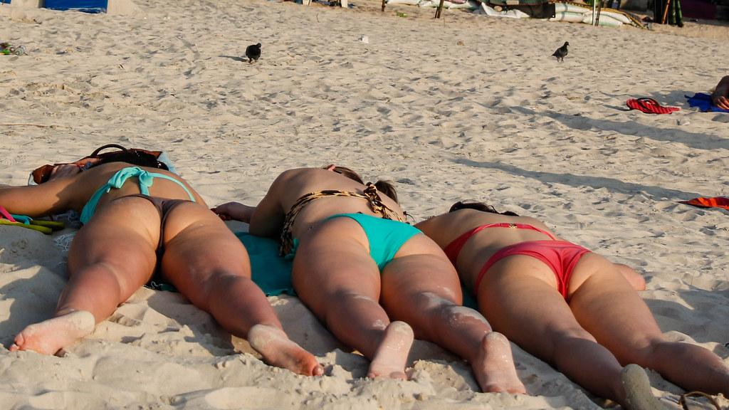 Sleeping Bikini Girl