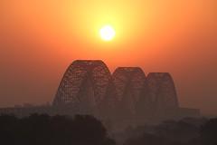 three arches (PawL23) Tags: sagaing sunrise goldenhour silhouette irrawaddy ayeyarwady newavabridge myanmar burma iron