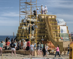 Building the world's biggest sandcastle. (LennyNJ) Tags: newjersey nj sandcastle jerseyshore oceancounty pointpleasant