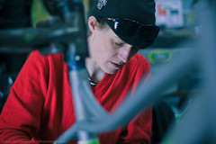 Naomi (Caitlin Magarity Photography) Tags: blue moon philadelphia beer shop work bikes bicycles crew production filming bluemoon bilenky dbg bilenkycycleworks