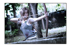 Lara Croft 05 (paololzki) Tags: cosplay laracroft portraiture archer conceptual squareenix tombraider bowandarrow archeologist cosplayphotography paololzki