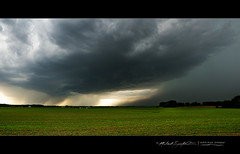 Ottawa, Illinois Supercell Panorama (StormLoverSwin93) Tags: light panorama storm color green texture weather canon landscape illinois spring thunderstorm core severe updraft outflow highrisk supercell downdraft hpsupercell canoneos60d illinoisthunderstorms illinoisthunderstorm illinoissupercell