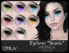 .Oh!Liv. Eyeliner *Shards* (V) Tags: makeup sl secondlife livia vendor cosmetics shard shards cosmetic eyeliner fatpack ohliv livialexis