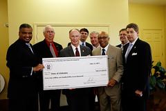 06-12-13 Governor Bentley accepts tornado relief money in Cordova