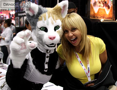 Kitty Cat & Tara Strong @ SDCC 2013 (DragonSquared Studio) Tags: female cat costume furry feline san punk comic dress tara cosplay kitty diego steam whiskers domestic calico strong housecat con partial steampunk sdcc fursuit phar 2013 dragonsquared