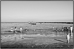 The Beach . (wayman2011) Tags: people bw beach coast seascapes tynewear canon400d cullercoates