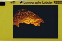 Fisheye Baby 110 & Lobster Redscale 200 (Cris Ward) Tags: sunset red sky orange baby film clouds analog evening lomo lomography warm border 110 wide warmth wideangle fisheye negative lobster analogue ultrawide testroll 110film redscale lomolab lomographyuk lomographylobsterredscale110