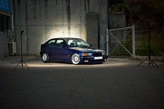 BMW 323ti e36 Compact (URi&Lau) Tags: canon suspension 5 low style drop bmw 1998 setup ti bbs rc lowered tyre compact strech drift slammed stance coilovers 323 jom 035 e36 photoshooting 1517 style5 strobist suspensio 8j 323ti