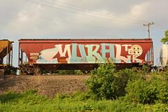 MURAL (The Braindead) Tags: art minnesota train bench photography graffiti painted tracks minneapolis rail explore beyond the