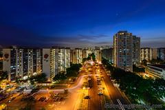 Bedok South sunset Aug '13 (knowenoughhappy) Tags: park sunset car singapore cityscape board south august flats housing aug hdb development bedok 2013