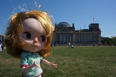 Connie in front the Reichstag. It's Germany's parliament building!