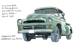 Pick-up Dodge 1957 (gerard michel) Tags: auto sketch pickup dodge croquis ancêtre