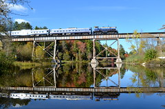 M420TR leading (Michael Berry Railfan) Tags: quebec eastman easterntownships mma montreallocomotiveworks m420tr orfordexpress montrealmaineatlanticrailway eastmantrestle oex26