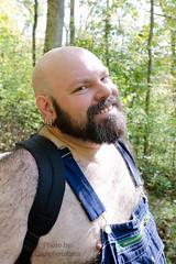 Bear Hike-T-4x6-3800 (Mike WMB) Tags: bear fur nipple bald overalls