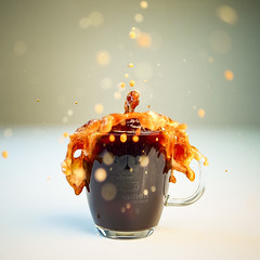 round (dongga BS) Tags: coffee drops kaffee splash hispeed