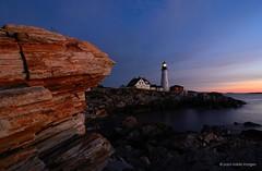 light (Explore) (paul noble photography) Tags: ocean lighthouse sunrise maine newengland atlanticocean portlandheadlight civiltwilight capeelizabeth cascobay fortwilliamscapeelizabethmaine tokinaatx1224 nikond7000 goldenhourlandscape paulnobleimages paulnoblephotography