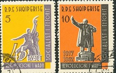 45 vjetori i revolucionit t madh socialist t tetorit, 1917-1962. 45th anniversary of the Socialist October Revolution, 1917-1962. Albanian stamps. (Only Tradition) Tags: al bs albania ussr philately urss filatelia albanien shqiperi shqiperia albanija albanie shqipri ppsh rusi shqipria filateli arnavutluk philatlie  rpsh   albnija