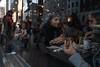 American Hunger (Giovanni Savino Photography) Tags: street newyorkcity people food reflection eating manhattan streetphotography american hamburger newyorkstreetphotography magneticart ©giovannisavino