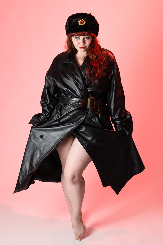Redhead leather fetish party naked